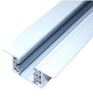 Üç Telli Gömülü Bağlayıcı için ray lambası 1 metre/adet beyaz Gizli ray Kılavuz rayı 20 adet|track connector|track rail connectorlighting connector -