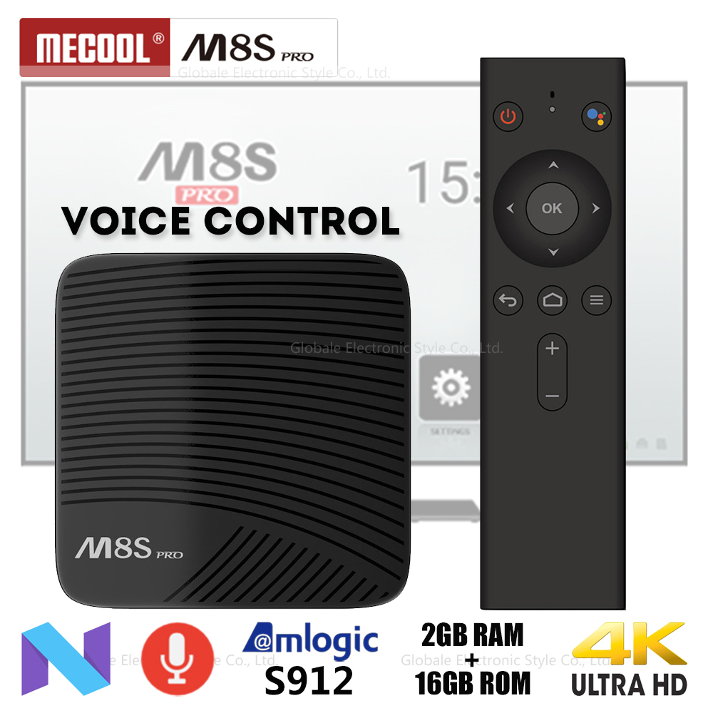 MECOOL M8S PRO Smart TV Box Android 7.1 Voice Control Amlogic S912 2GB 16GB 4K Set-top Box HDMI Bluetooth Media Player PK GT1 mecool km8 p smart box 4k ultra hd set top box amlogic s912 2gb ram 16gb rom tv box media player