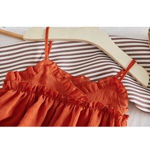 Image 4 - Amour DD & MM filles robes 2019 été nouveaux vêtements pour enfants filles Style étranger sans manches bébé maille fronde robe de princesse