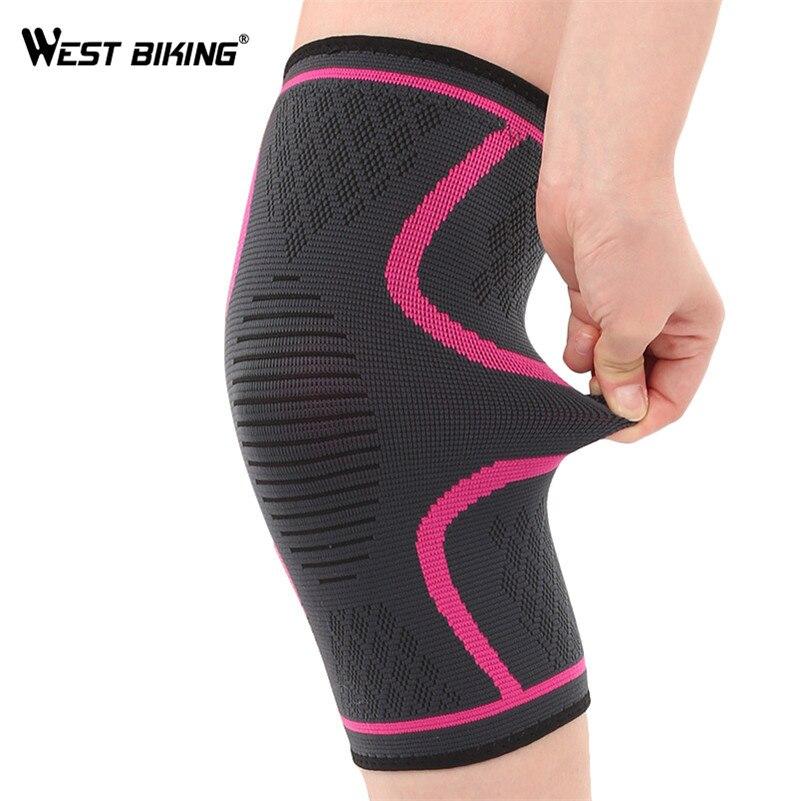 WEST BIKING 1 PCS Sports Leg Warmers Thermal Fitness Training Knee Leg Sleeve women High Elastic Cycling Legwarmers Leg Warmers