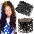 Ear to Ear Lace Frontal Closure With Bundles Peruvian Virgin Hair Water Wave With Closure Cheap Human Hair Weft With Closure