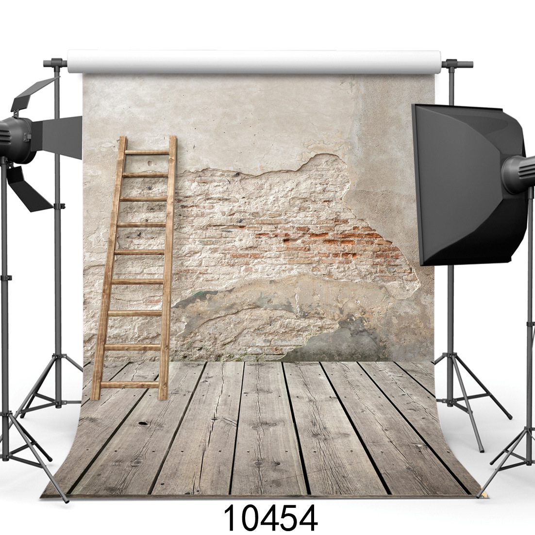 Vintage Shabby Wall Decoration Photography Backdrops Bamboo Ladder Wood Floor Background Props for Photo Studio shengyongbao 300cm 200cm vinyl custom photography backdrops brick wall theme photo studio props photography background brw 12