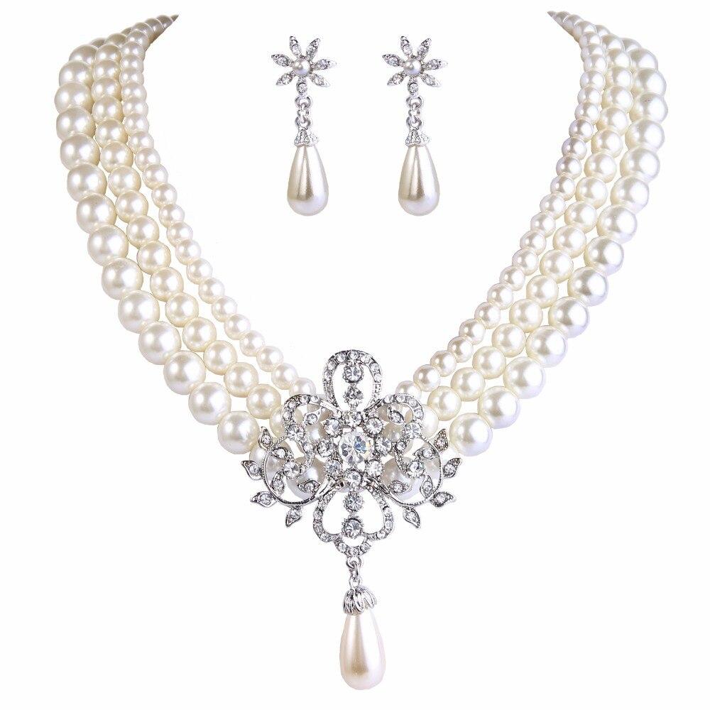 Bella Fashion Victorian Style Flower Bridal Jewelry Set