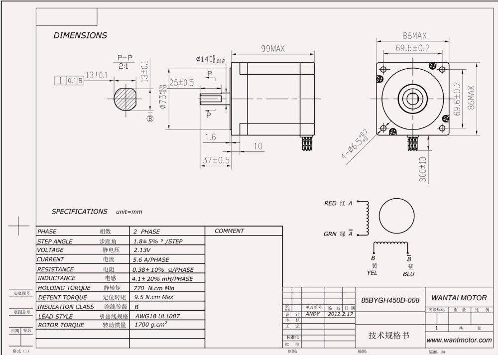 nema 34 stepper motor datasheet