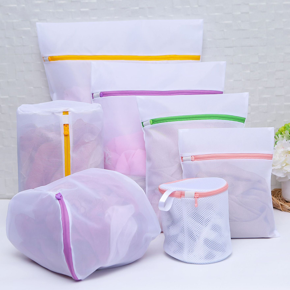 7pcs/Set Zipped Laundry Wash Mesh Bag Washing Net Lingerie Underwear Bra Clothes