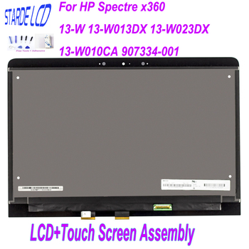 STARDE LCD 13.3'' For HP Spectre x360 13-W 13-W013DX 13-W023DX 13-W010CA 907334-001 LCD Display Touch Screen Digitizer Assembly