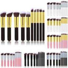 ФОТО top quality 10pcs makeup brushes professional makeup brush set cosmetics foundation blush makeup brushes free shipping!