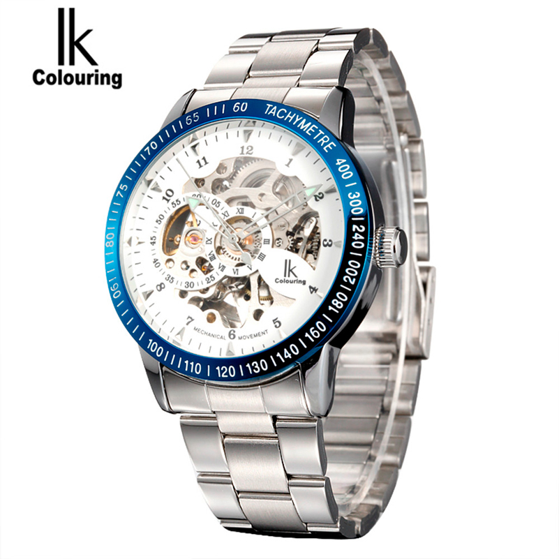 Luxury Mechanical Skeleton Male Waterproof Watch Men Brand Stainless Steel Strap Fashion Casual Wristwatches Relogio Masculine