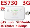 Desbloqueado huawei e5730 3g pocket router wifi 3g mifi móvil dongle 3g router 3g banco de potencia con rj45 usb pk e589 e587 e5776 e5570