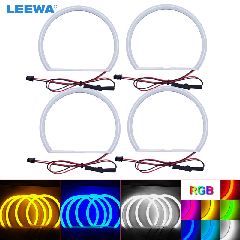 LEEWA 4X146mm Car Auto Halo Rings Cotton Lights SMD LED Angel Eyes for BMW E46 98-01 Vorfacelift Car Styling White/Blue/Yellow hot sale car ccfl led angel eye headlights led chip car light white yellow 6000k auto headlight for bmw 3 serie e46 sedan