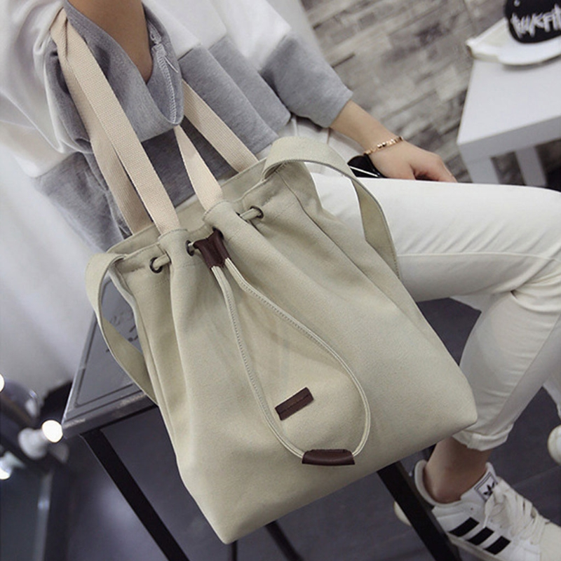 THINKTHENDO Canvas Handbag Shoulder Messenger Bag New Women's Girls Durable Tote Purse Bags Casual Canvas New Solid 2018 new casual patchwork tote bag metal handle rainbow canvas shoulder bag multifunction girls shoulder messenger bag bolsos
