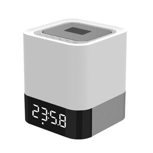 Alarma Calendario Samsung.45 8 Altavoz Del Bluetooth Portable Con La Luz De Alarma Del Reloj Y Calendario Cuadro De La Columna Barra De Sonido Para El Iphone Samsung Xiaomi