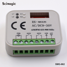 цена на 9-30V DC AC 433-868mhz universal receiver 433 SLH 868MHz SLH Multi Frequency Auto Scan Rolling Code Remote Control receiver