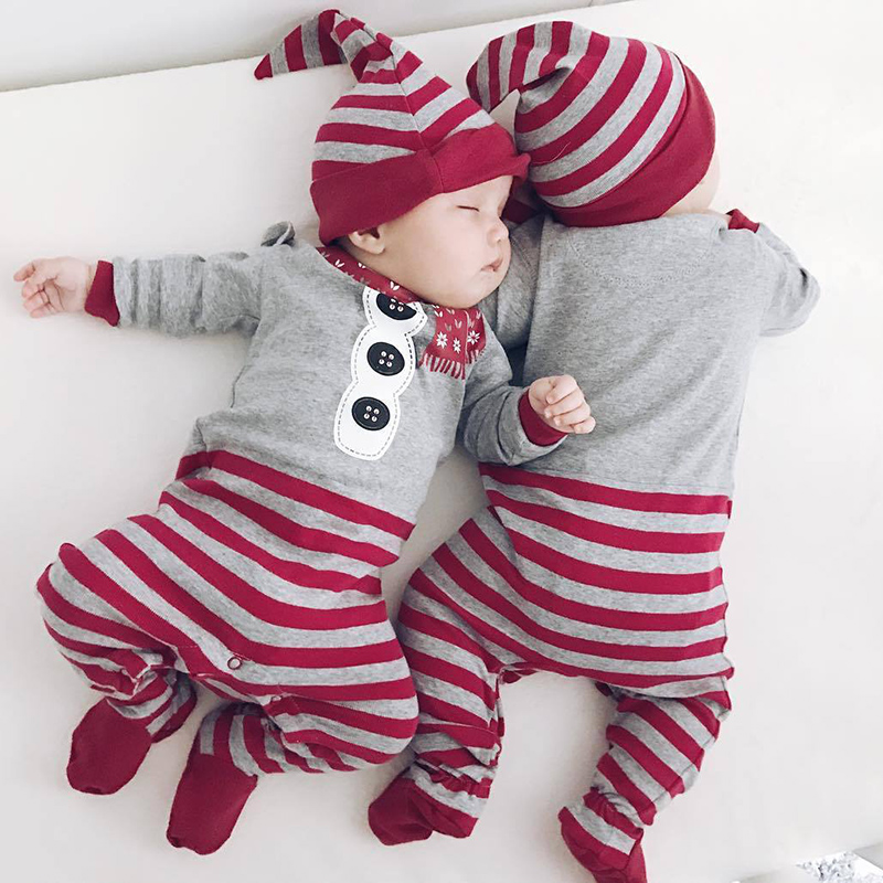 2017 Bobo Choses Autumn Winter Baby Romper Tiny Cottons Newborn Girl Boy Clothes Hat 2pcs Clothing Set Baby Onesie bobo choses юбка bobo choses модель 281253496