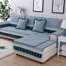 Sofa cushion four seasons universal, European non-slip cushion, linen sofa towel linen sofa cushion four seasons universal european non slip cushion sofa cover towel