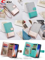 C Ku 9 Cards Slot Multifunctional Wallet Leather Case For IPhone X IphoneX 8 7 Plus
