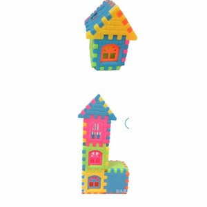 Image 3 - 44pcs / lot puzzle fun three   dimensional assembled house building  toys can be opened window building  toys