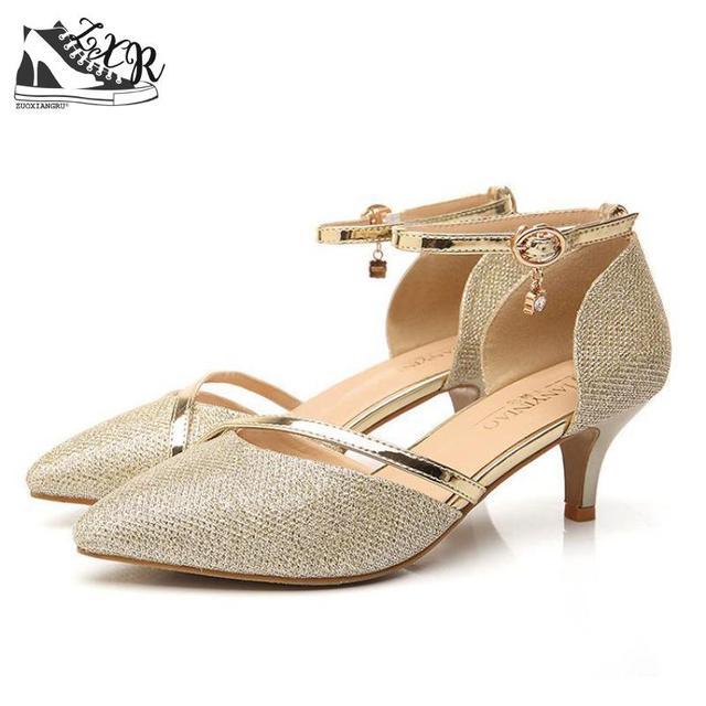 1b3676d38c Comprar Sexy Sapatos de Salto Alto Mulher Bombas De Prata Ouro ...