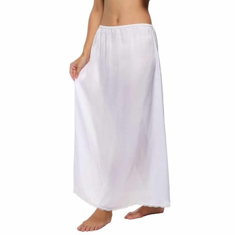 d26ef6d06e011 Detail Feedback Questions about Women Half Slip Satin Trim Maxi Lace ...