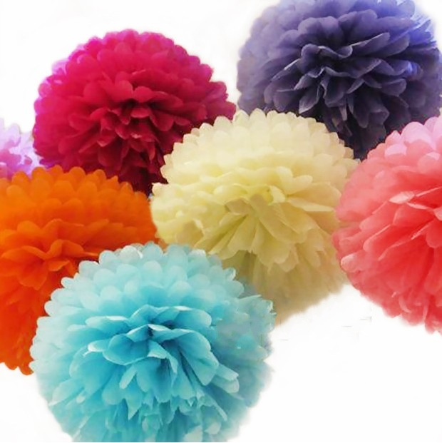 artificial paper flower ball wedding birthday party festival celebrate decoration house store ornament20pcs - Party Decoration Stores