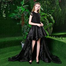 chaussures de course prix imbattable capture Black Lace Prom Short Dress with Long Sleeve Promotion ...