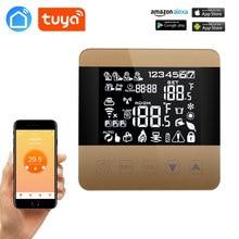 TUYA WiFi Alexa Google hogar termostato inteligente programable invierno para calefacción de agua/suelo pantalla táctil controlador de temperatura ambiente