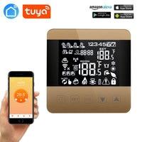 Tuya Wifi Alexa Google Thuis Slimme Thermostaat Programmeerbare Winter Voor Water/Vloerverwarming Touchscreen Kamerthermostaat|Slimme Temperatuur Control Systeem|   -
