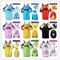 Women/Men Loose Hooded Sweatshirt Zipper Outerwear animal Charmande pikachu pokemon cosplay costume 3D Hoodies Hoodie tops