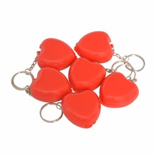 1PCS New Protect CPR Masks KeyChain Mouth To Mouth Rescue Shields In Mini Heart Box Red Cpr Face Mask First Aid Kit Portable