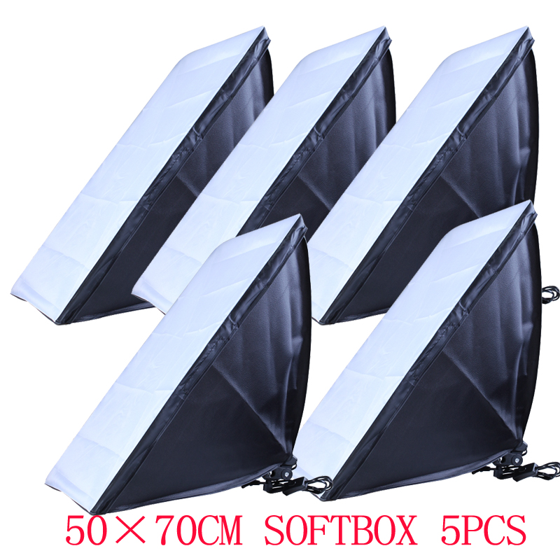100-240v Photography diffuser 50*70cm Softbox 5pcs E27 Lamp Holder For Studio Continuous Lighting not include Bulbs