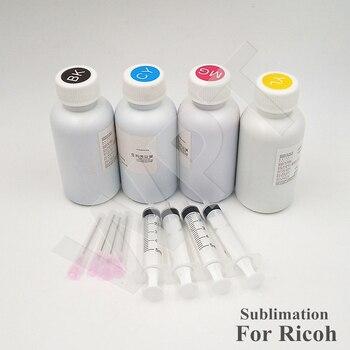 Un conjunto [100MLX4] tinta de sublimación de alta calidad, tinta de transferencia térmica para impresora Ricoh GC21 GC31 GC41/Ricoh