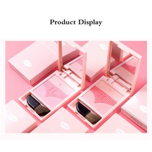 Three-Color Blush Powder Palette Waterproof Long Lasting Brighten Makeup Baked Highlight Effect Fine Blusher with brush 2019 цена