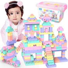 100 Pcs/Set Toys Building Blocks Small Particle ABS Plastic Creative Bricks DIY Assembled Toy Girl Birthday Gift
