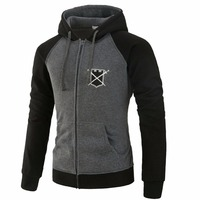 Brand 2017 Hoodie Cardigan Zipper Spell Color Hoodies Men Fashion Tracksuit Male Sweatshirt Off White Hoody