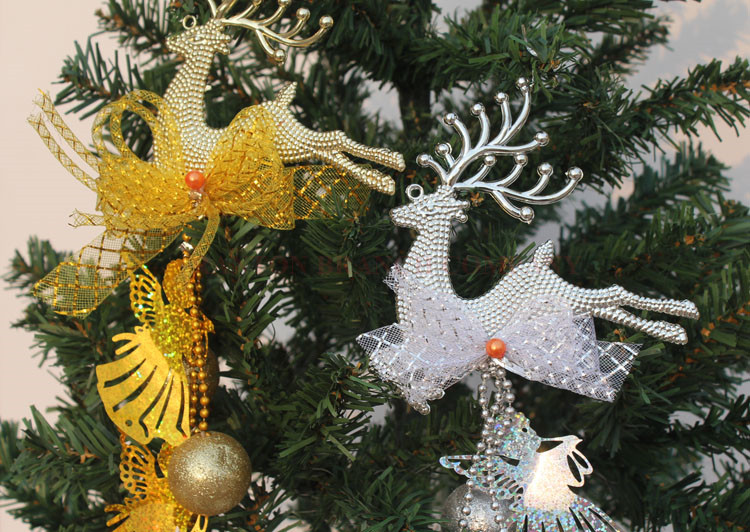 Free Shipping 1 Pieces Silver&gold Christmas Tree