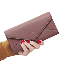 10PCS / LOT New Envelope Designer Ladies Party Clutch Wallets Women Phone Pocket Coin Purse Card Holder Female Long Wallet