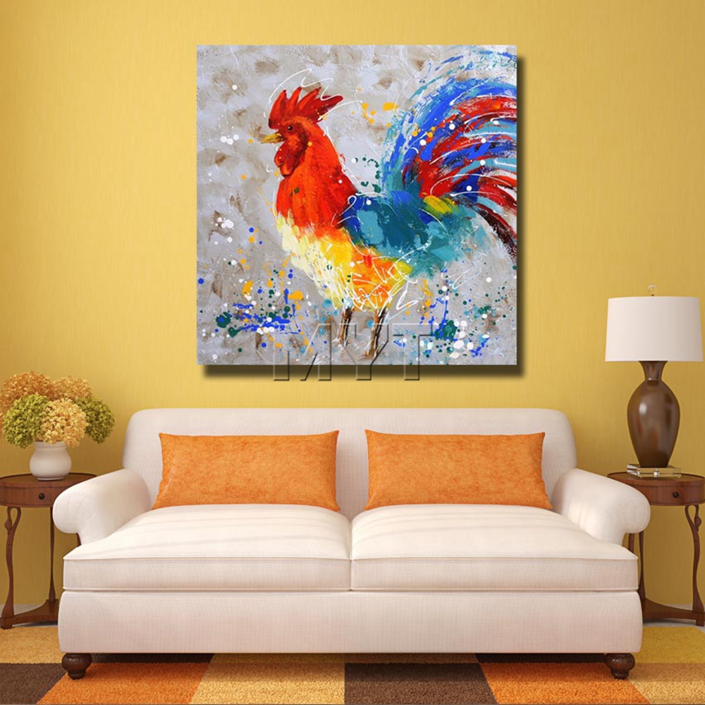 Artist Painted Chicken Wall Art Home Decoration Living Room ...
