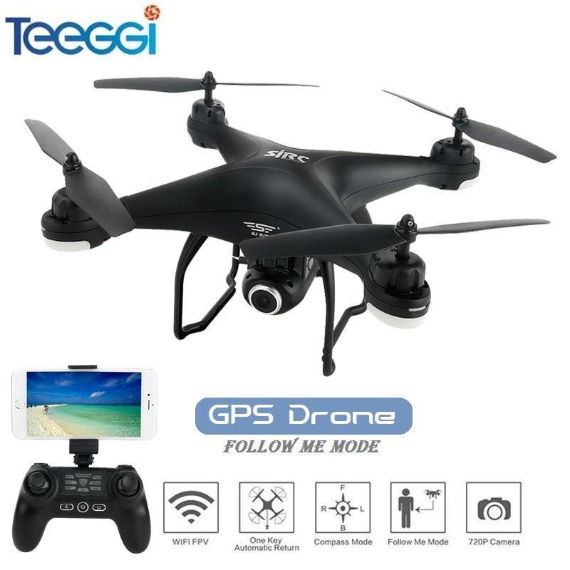 цена на S20W Dual GPS Dynamic Follow WiFi FPV RC Drone with Adjustable 720P 1080P Wide Angle HD Camera RC Racing Quadcopter VS S70W S30W