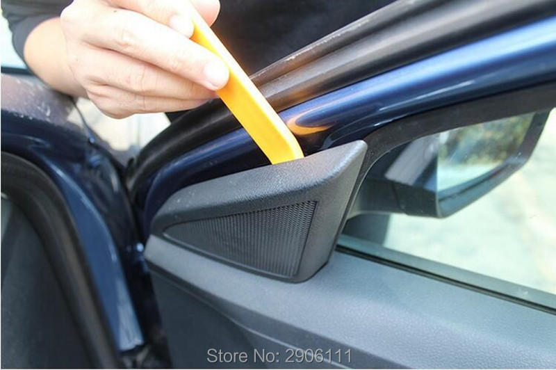 4pcs Car radio dismantling plastic tool kit for Ford mondeo kuga fiesta Focus2 3 ecosport fusion ranger accessories car-styling ouzhi for ford focus 2 3 mondeo fiesta f150 orange brown brand designer luxury pu leather front