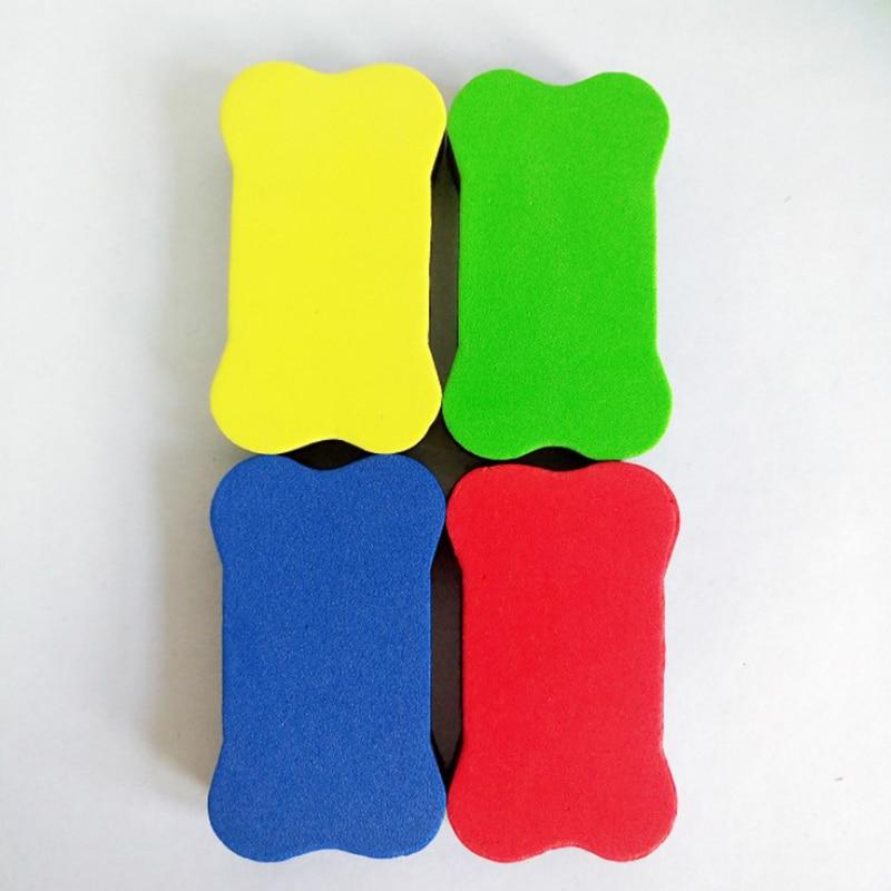 2PCS Mini Bone EVA Sponge Magnetic Whiteboard Eraser Dry Erase Board Marker Cleaner  Chalk Blackboard Wipe School Office Supplie