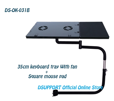 Kind-Hearted Ok031 Multifunctional Full Motion Chair Clamping Laptop Desk Holder With Usb Fan chair Arm Clamping Mouse Pad Lovely Luster Square Mouse Pad