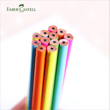 12pcs Faber castell Pencils Colorful Triangle Standard 2H 2B HB Pencils for Kids Student School Office