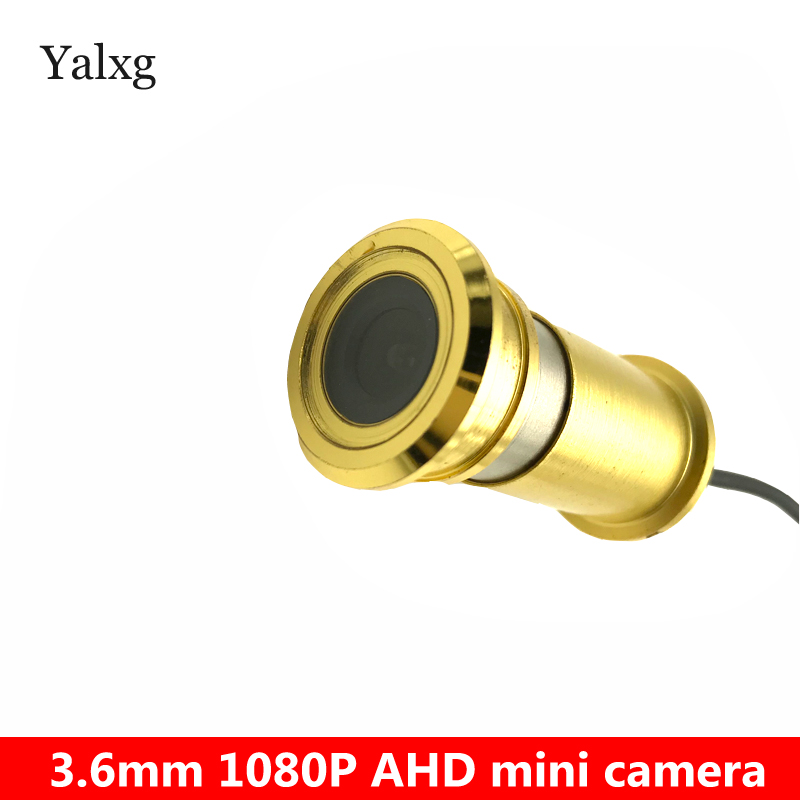 HD AHD 1080P Mini Golden Door eye Peephole Indoor Home Security Camera Wired Color CCTV H.264 0.001 Lux Surveillance Camera home lux