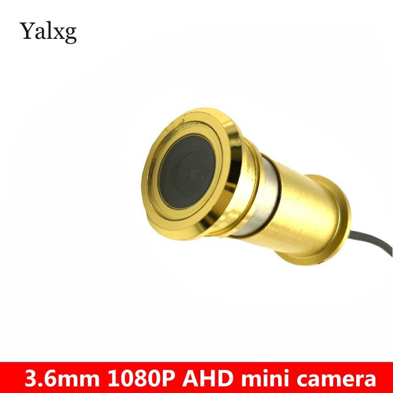 New HD AHD 1080P Mini Golden Door eye Peephole Home Security Camera Wired Color CCTV H.264 0.001 Lux Cat Eye Surveillance Camera new ahd sony sensor 1080p cat eye door