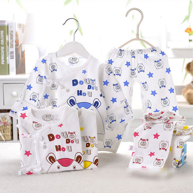 2017 Summer 0-3 months newborn baby clothes brand cotton suit 2pcs sets sports suit for infant baby's clothing underwear sets