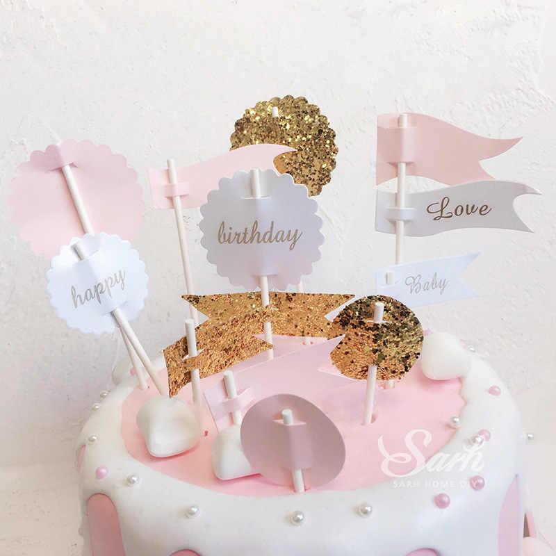 Surprising Elf Magic Boy Girl Birthday Cake Flag Homemade Baking Snack Personalised Birthday Cards Arneslily Jamesorg