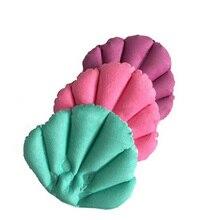 SOLEDI Soft Bathroom Pillow Home Comfortable Spa Inflatable Bath Cups Shell Shaped Neck Bathtub Cushion Bathroom Accessories педали wellgo c172u х70248