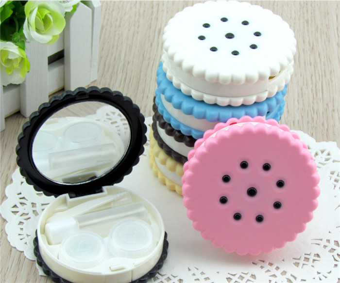 300pcs Candy Color Glasses Box Stationery Holders Containers For Contact Lenses