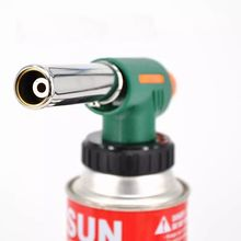 Outdoor BBQ Equipment Hiking Camping Proof Waterproof  Manual Flame Gun Butane Burners Gas Adapter Torch Stove Tools