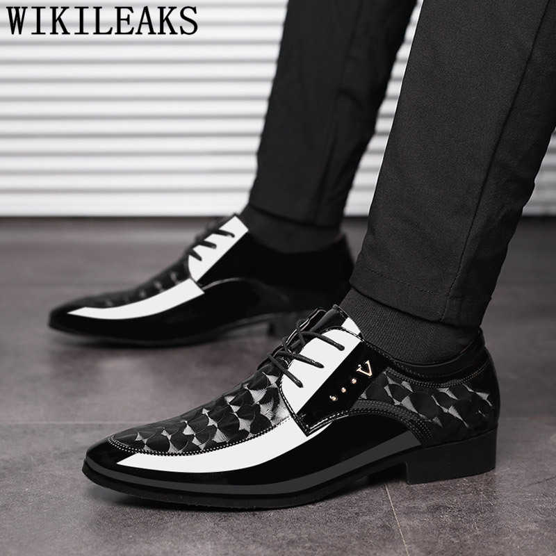 Коричневые модельные свадебные туфли; мужские официальные итальянские лакированные кожаные туфли для мужчин; coiffeur; элегантная обувь; мужские классические туфли; zapatos hombre bona